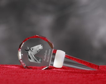 Australian Stock Horse, Crystal Wine Stopper with Horse, Wine and Horse Lovers, High Quality, Exceptional Gift. New Collection