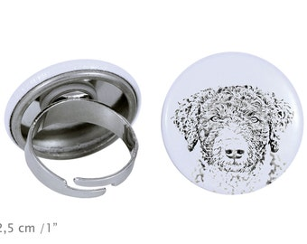 Ring with a dog- Bolognese