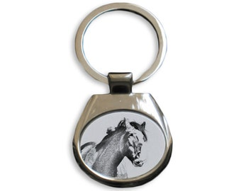 Clydesdale - NEW collection of keyrings with images of purebred cats, unique gift, sublimation