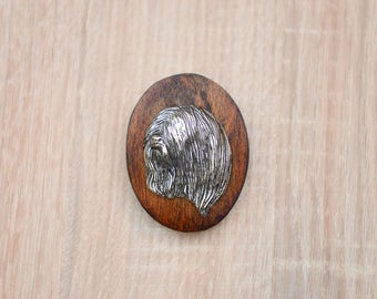 Lhasa Apso, dog show ring clip/number holder, limited edition, ArtDog