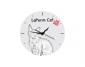 LaPerm, Free standing MDF floor clock with an image of a cat.