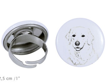 Ring with a dog- Kuvasz