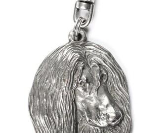 NEW, Afghan Hound, dog keyring, key holder, limited edition, ArtDog . Dog keyring for dog lovers