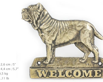 Mastino Neapolitano, dog welcome, hanging decoration, limited edition, ArtDog