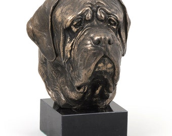 English Mastiff, dog marble statue, limited edition, ArtDog. Made of cold cast bronze. Perfect gift. Limited edition
