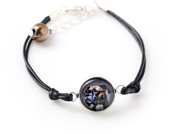 Boxer uncropped. Bracelet for people who love dogs. Photojewelry. Handmade.
