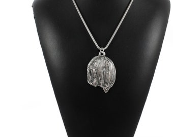 NEW, Lhasa Apso, dog necklace, silver cord 925, limited edition, ArtDog