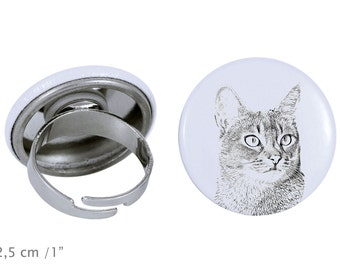 Ring with a cat - Abyssinian cat