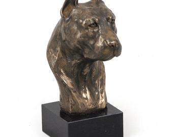 American Staffordshire Terrier (big), dog marble statue, limited edition, ArtDog
