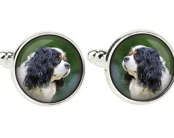 Cavalier King Charles Spaniel. Cufflinks for dog lovers. Photo jewellery. Men's jewellery. Handmade
