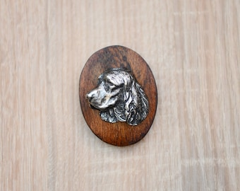 English Springer Spaniel, dog show ring clip/number holder, limited edition, ArtDog