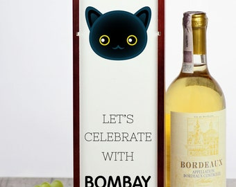 Let's celebrate with Bombay cat. A wine box with the cute Art-Dog cat