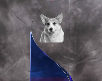 Pembroke Welsh Corgi - crystal statue in the likeness of the dog