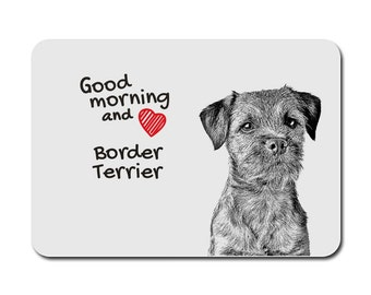 Border Terrier, A mouse pad with the image of a dog. Collection!