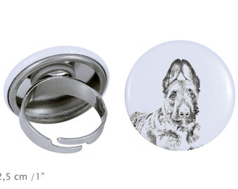 Ring with a dog- Laekenois