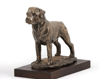 Rottweiler, dog wooden base statue, limited edition, ArtDog