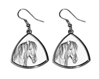 Henson, collection of earrings with images of purebred horses, unique gift. Collection!