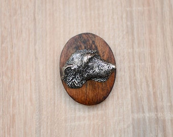 Irish Wolfhound, dog clipring, dog show ring clip/number holder, limited edition, ArtDog