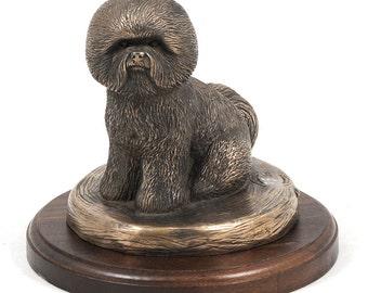 Bichon, dog wooden base statue, limited edition, ArtDog