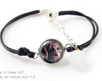 German Wirehaired Pointer. Bracelet for people who love dogs. Photojewelry. Handmade.