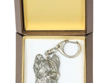 NEW, Briard, dog keyring, key holder, in casket, limited edition, ArtDog . Dog keyring for dog lovers