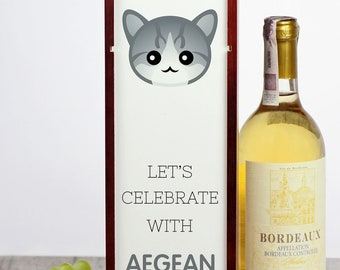 Let's celebrate with Aegean cat. A wine box with the cute Art-Dog cat