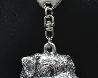 Norfolk Terrier, dog keyring, keychain, limited edition, ArtDog . Dog keyring for dog lovers