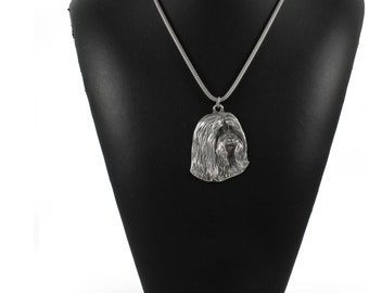 NEW, Bearded Collie, Beardie, dog necklace, silver cord 925, limited edition, ArtDog