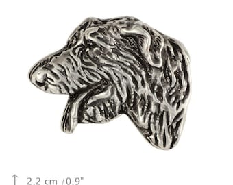 Irish Wolfhound (head), dog pin, limited edition, ArtDog