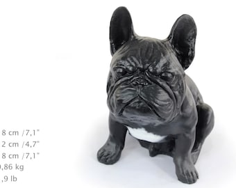 French Bulldog, color, dog sitting statue, limited edition, ArtDog