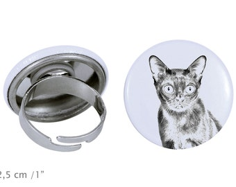 Ring with a cat -Bombay cat