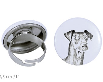 Ring with a dog- Manchester terrier