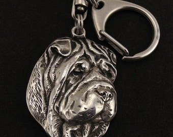 Shar-Pei, Chinese Shar-Pei, dog keyring, keychain, limited edition, ArtDog . Dog keyring for dog lovers