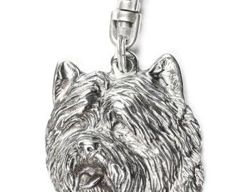 NEW, Cairn Terrier, dog keyring, key holder, limited edition, ArtDog . Dog keyring for dog lovers