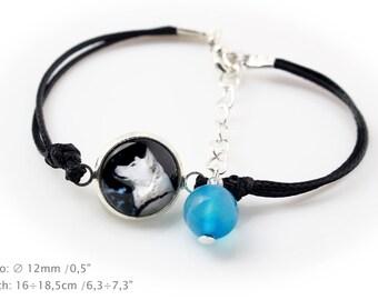 Akita Inu. Bracelet for people who love dogs. Photojewelry. Handmade.