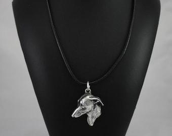 Italian Greyhound, dog necklace, limited edition, ArtDog