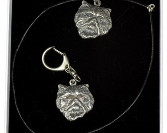 NEW, Persian Cat, cat keyring and necklace in casket, ELEGANCE set, limited edition, ArtDog
