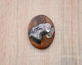 Cesky Terrier, dog clipring, dog show ring clip/number holder, limited edition, ArtDog