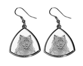 Keeshond - NEW collection of earrings with images of purebred dogs, unique gift