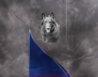 Belgian Shepherd, Malinois- crystal statue in the likeness of the dog