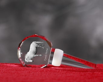 Fjord Horse, Crystal Wine Stopper with Horse, Wine and Horse Lovers, High Quality, Exceptional Gift. New Collection