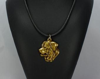 Tosa Inu, millesimal fineness 999, dog necklace, limited edition, ArtDog