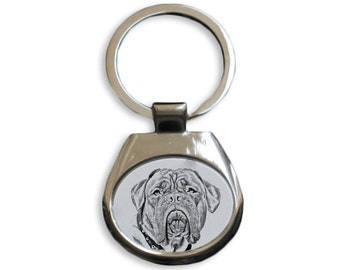French Mastiff - NEW collection of keyrings with images of purebred dogs, unique gift, sublimation . Dog keyring for dog lovers