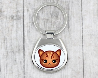 A key pendant with Bengal. A new collection with the cute Art-dog cat