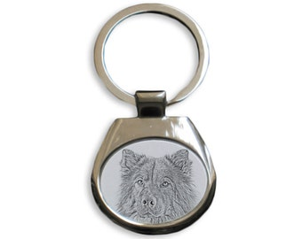 Eurasier - NEW collection of keyrings with images of purebred dogs, unique gift, sublimation . Dog keyring for dog lovers