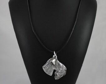 Kerry Blue Terrier, Irish Blue Terrier, dog necklace, limited edition, ArtDog
