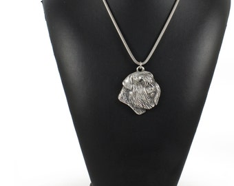 NEW, Bouvier, Flanders Cattle Dog, dog necklace, silver chain 925, limited edition, ArtDog