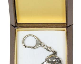 NEW, Italian Greyhound, dog keyring, key holder, in casket, limited edition, ArtDog . Dog keyring for dog lovers
