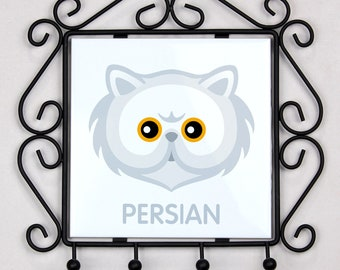 A key rack, hangers with Persian cat. A new collection with the cute Art-dog cat
