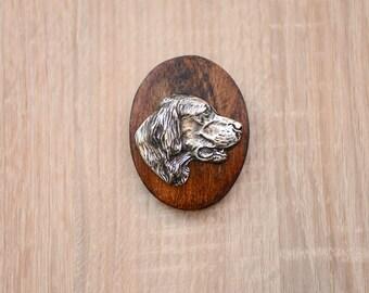 Setter, dog show ring clip/number holder, limited edition, ArtDog